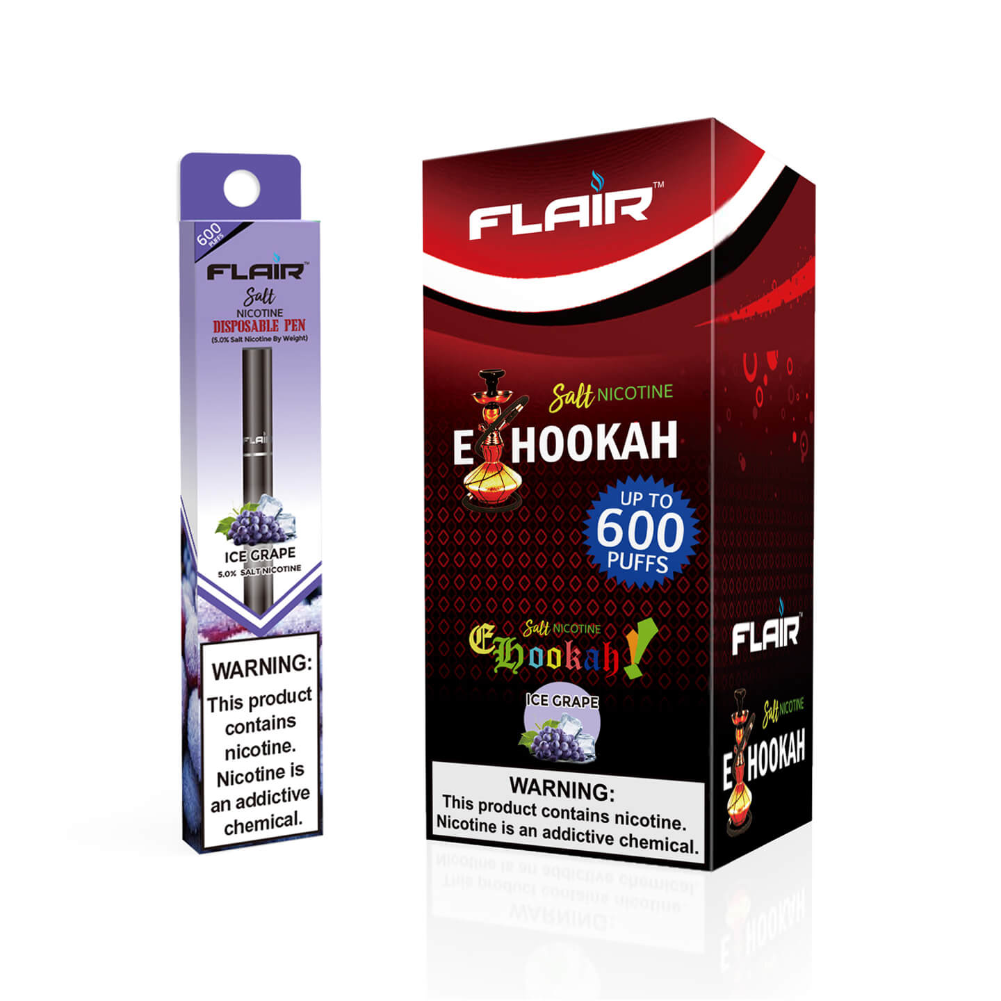 Flair Salt Nicotine Disposable Pen (Ice Grape)