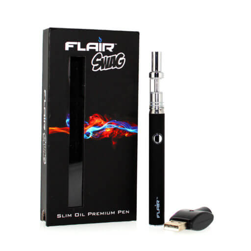 Flair Slim Oil Vaporizer Pen Black Refillable