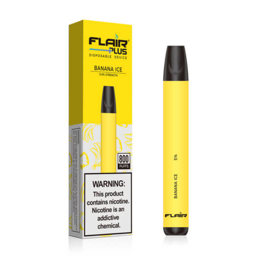 Main image of Flair Plus Disposable Devices (Banana Ice – 800 Puffs)